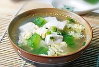 丝瓜豆腐蛋汤的做法