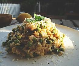 豌豆意大利烩饭【安卡西厨】的做法