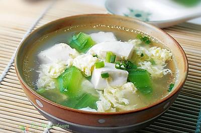 丝瓜豆腐蛋汤