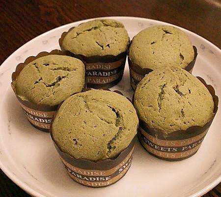 面包机版抹茶马芬的做法