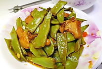 肉片炖芸豆的做法