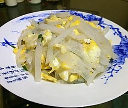 白萝卜炒鸡蛋的做法
