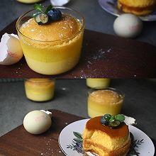 """#2021亲子烘焙组——""""焙""""感幸福#焦糖布丁蛋糕"""