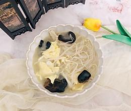 #花10分钟,做一道菜!#双菌蛋汤的做法