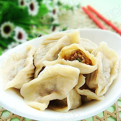 白萝卜牛肉水饺
