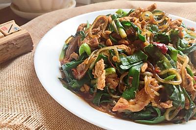 韭菜粉条炒肉丝