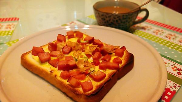 快手早餐面包,高端大气上档次的做法