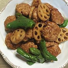 鸡肉藕粒饼