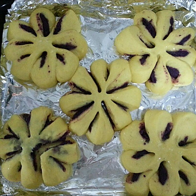 紫薯馅南瓜面包的做法 步骤11