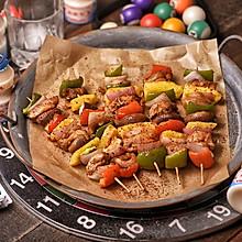 低脂缤纷鸡肉烤串
