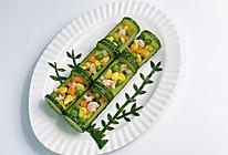 年夜菜|翠竹报春·鲜虾玉米黄瓜沙拉的做法
