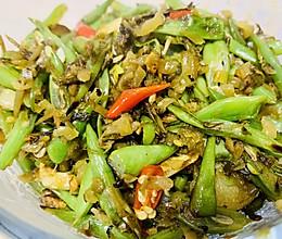 四季豆炒雪菜的做法