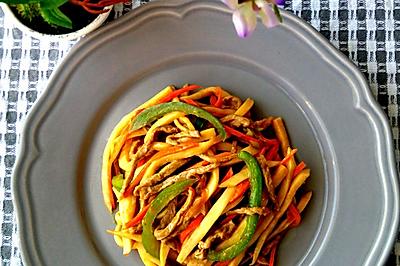 蚝油杏鲍菇炒肉丝