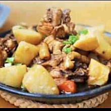 土豆蘑菇炖鸡肉