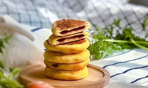 宝宝版奶香胡萝卜紫薯饼#馅儿料美食,哪种最好吃#的做法