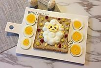 儿童卡通早餐—小绵羊酸奶吐司的做法