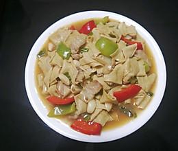 青椒干豆皮的做法