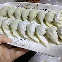 圆白菜香菇素饺子,减肥,健身者的美食的做法图解1