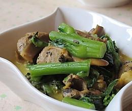 蚌肉烧菜苔的做法