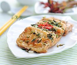 香椿季美食——【锅塌香椿豆腐】的做法