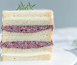 紫米奶酪三明治的做法