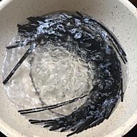 #晒出你的团圆大餐#千岛酱墨鱼汁意面的做法图解2