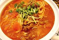 番茄肥牛金针菇粉丝煲的做法