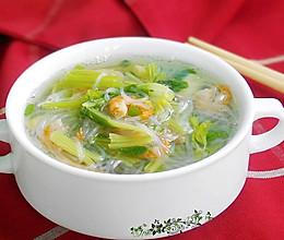 粉丝虾米芹菜汤的做法