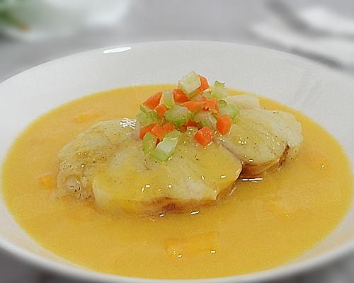 芒果椰浆清蒸银鳕鱼的做法