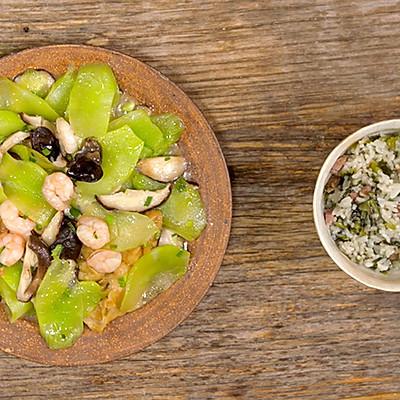 莴笋菜饭 莴笋炒荤素|美食台