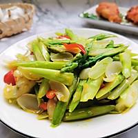 #花10分钟,做一道菜!#芦笋炒百合的做法图解10