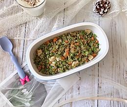 """#秋天怎么吃#没有米饭的西兰花黎麦""""炒饭""""的做法"""