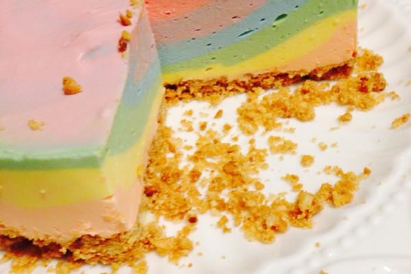彩虹芝士冻饼的做法