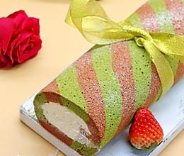 圣诞的仪式感圣诞双色蛋糕卷的做法