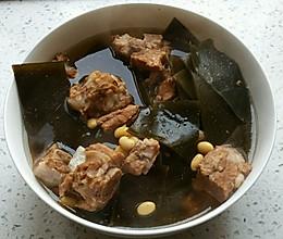 排骨海带黄豆汤的做法