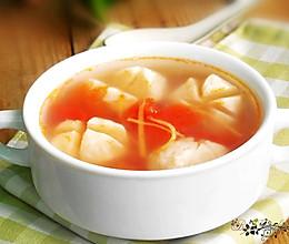 番茄姜丝鱼丸汤的做法