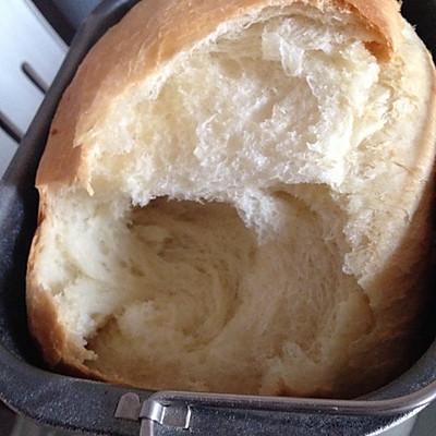 奶油牛奶吐司面包-成功的面包机吐司