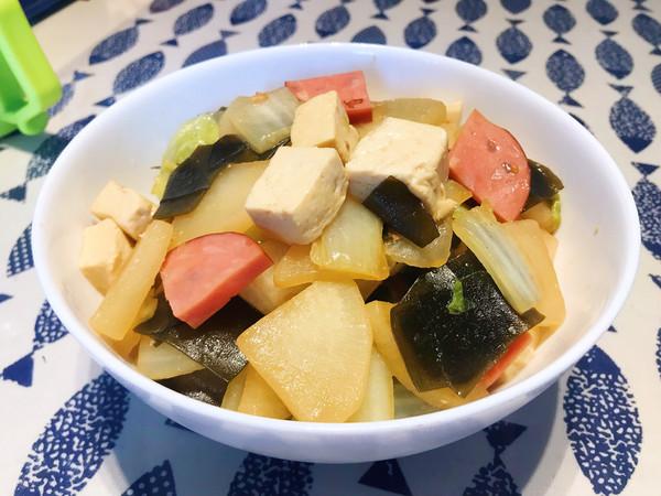家常但好味——白菜萝卜烧海带的做法