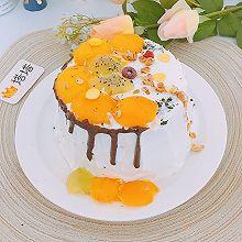 六寸芒果生日蛋糕蒸蛋糕