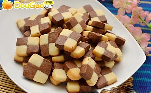 抢眼小饼干:迷你双色棋格饼干的做法
