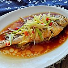 清蒸黄鱼#金龙鱼外婆乡小榨菜籽油 最强家乡菜#