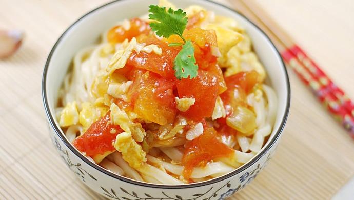 番茄鸡蛋拌面