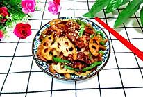 藕片炒羊肉的做法