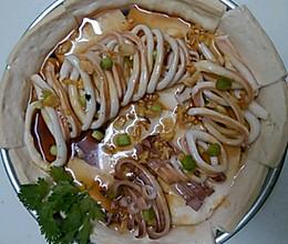 清蒸豆腐尤鱼的做法