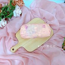 粉红火龙果毛巾卷
