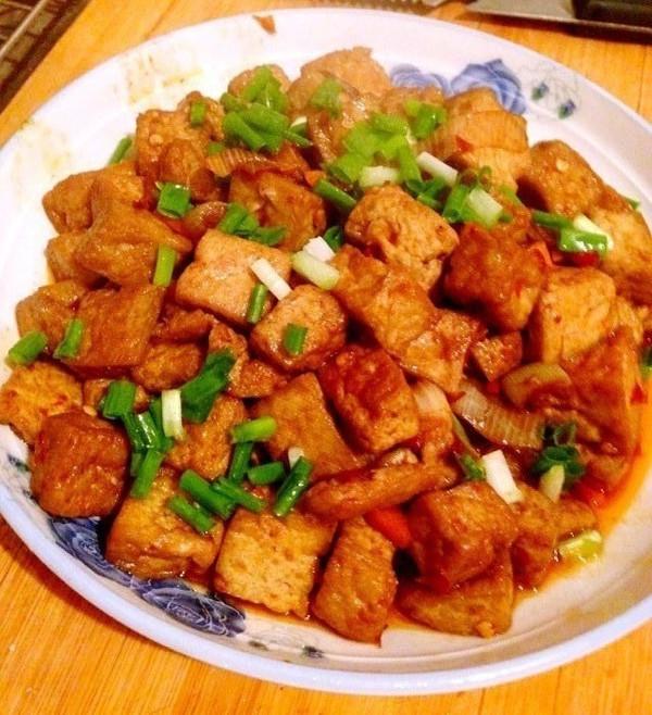 宫爆豆腐——宫爆鸡丁改良的做法