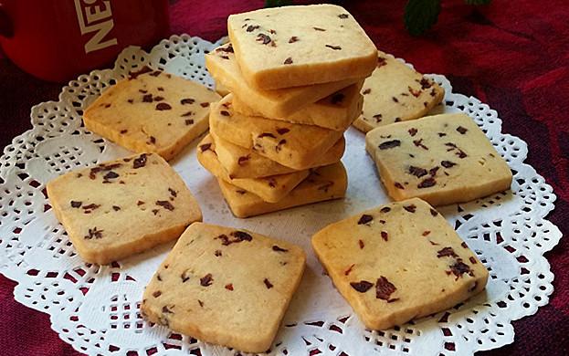 蔓越莓饼干 #莓汁莓味#