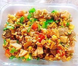 咖喱牛肉闷杂粮饭的做法