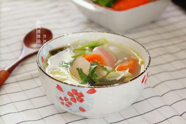 和风清体汤的做法