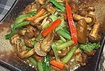 小白菜炒滑子菇的做法